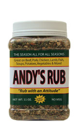 Andy's Rub 11oz